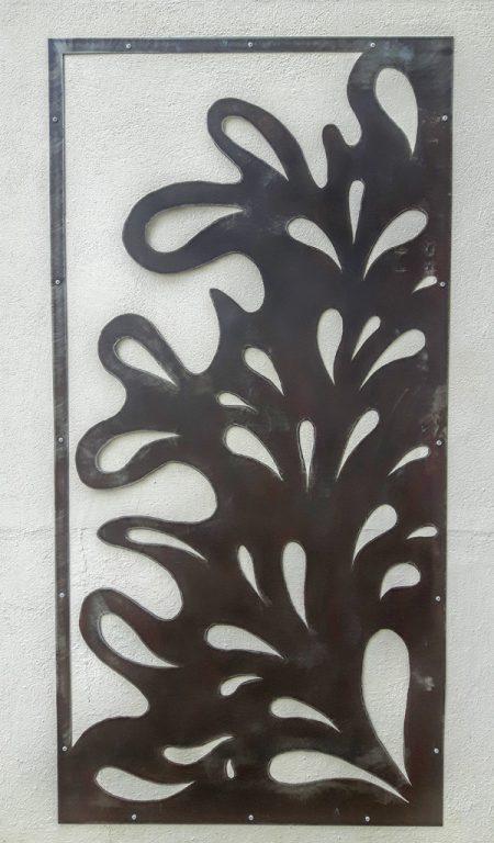 Panneau separation motif metal rouille