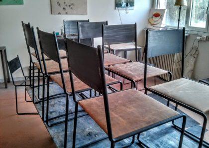 Chaise design acier