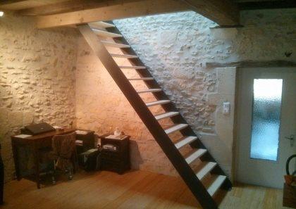 Escalier acier et bois